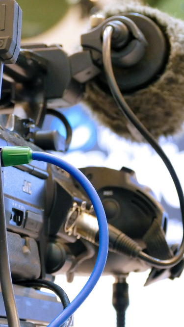 Pressekonferenz-Videokamera